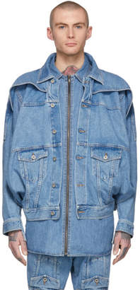 Diesel Red Tag Indigo Shayne Oliver Edition Denim Turbo Jacket