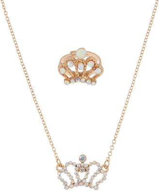 Monsoon Crown Necklace & Ring Set