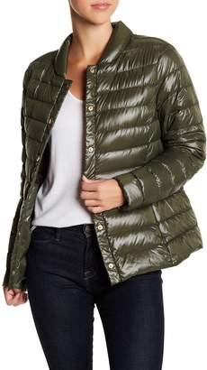 Via Spiga Snap Front Packable Jacket