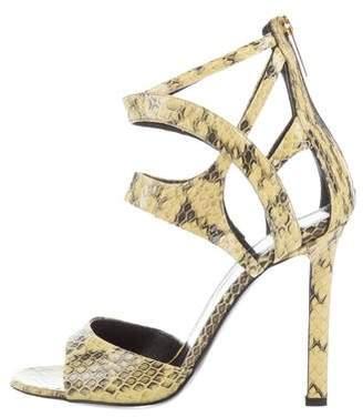 Tamara Mellon Snakeskin Ankle Strap Sandals w/ Tags