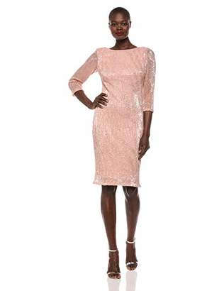 880f11fa3c4c SL Fashions Women's Lace and Sequin Fit and Flare Dress
