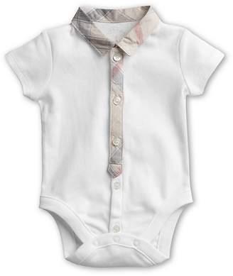 Burberry Boys' Layette Tannar Short Sleeve Bodysuit - Baby