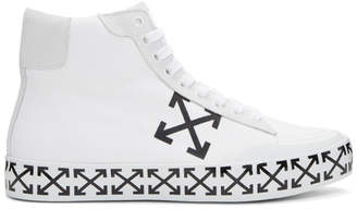 Off-White White Vulcanised Arrows Mid-Top Sneakers