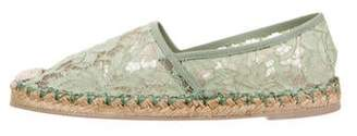Valentino Lace Espadrille Flats