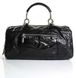 Balenciaga  Balenciaga Black Patent Leather Satchel Handbag