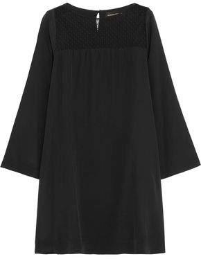 Vanessa Seward Tulle-Paneled Silk Crepe De Chine Mini Dress