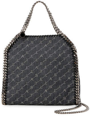 Stella McCartney Falabella Mini Logo Canvas Chain Tote Bag