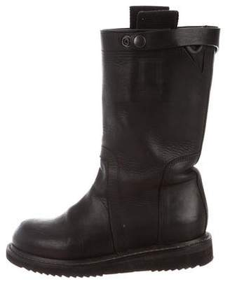 Rick Owens Leather Mid-Calf Boots