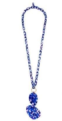ZENZii Guitar Pick Shaped Long Chain Necklace