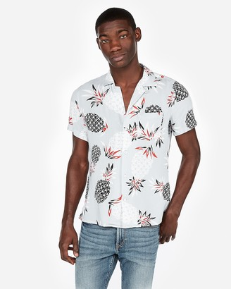 Express Pineapple Print Short Sleeve Shirt