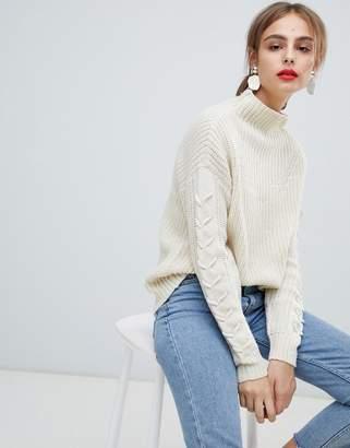 Vero Moda Funnel Neck Side Stitch Sweater