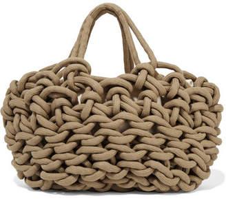Alienina Woven Cotton Tote - Camel