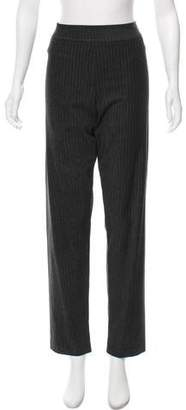 Avenue Montaigne High-Rise Pinstripe Pants w/ Tags