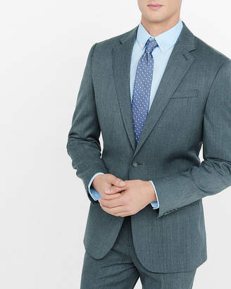 Express Classic Gray Wool Blend Twill Suit Jacket