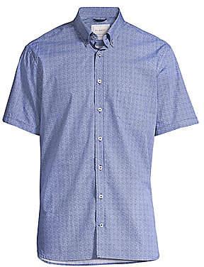 Bugatti Men's Button-Down Short Sleeve Cotton Shirt