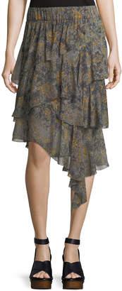 Etoile Isabel Marant Zephi Ruffled Chiffon Skirt