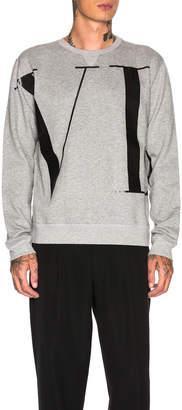 Valentino VLTN Sweatshirt in Melange Grey & Black   FWRD