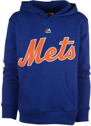 Majestic Mlb Worldmark New York Mets Fleece Hoodie, Little Boys (4-7)