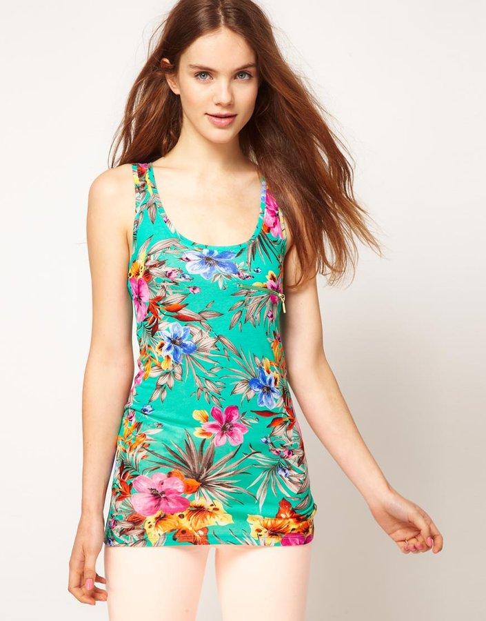 Warehouse Tropical Floral Vest