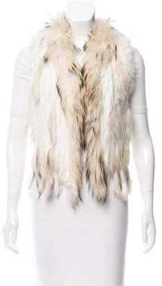 Shawl Collar Fox Fur Vest