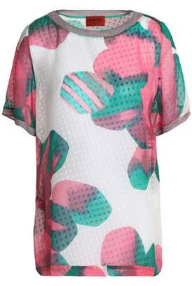 Missoni Printed Fil Coupé Silk-Blend Top