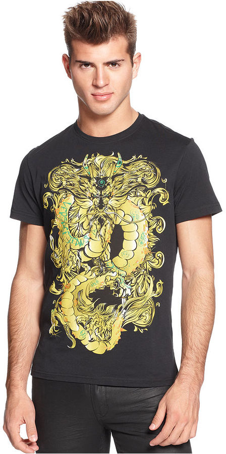 Versace T-Shirt, Crew Neck Short-Sleeve Graphic T-Shirt