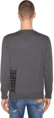 DSQUARED2 V-neck Wool Jacquard Sweater