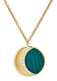Pamela Love Fine Jewelry Women's Moon Phase Pendant Necklace-Yellow Gold