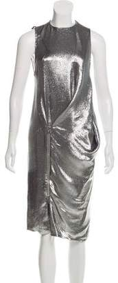 Tom Ford Metallic Midi Dress w/ Tags