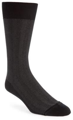 John W. Nordstrom R) Herringbone Texture Crew Socks