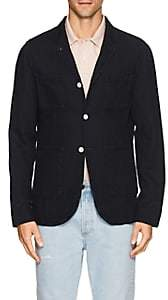 N. Max 'n Chester MAX 'N CHESTER MEN'S COTTON-LINEN THREE-BUTTON SPORTCOAT-BLUE SIZE S