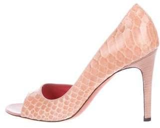 Judith Leiber Semi D'Orsay High-Heel Pumps