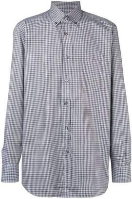 Brioni button-down check shirt