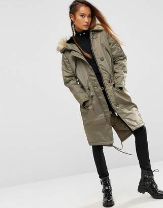 ASOS Premium Padded Parka with Fur Lined Hood $128 thestylecure.com