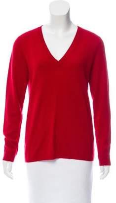 Magaschoni V-neck Rib Knit Sweater