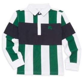 Burberry Little Boy's& Boy's Racing Stripe Long Sleeve Polo Shirt