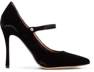 Tabitha Simmons Lula Crystal-embellished Velvet Pumps - Black