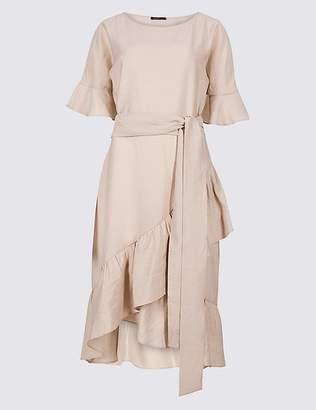 Marks and Spencer Ruffle Half Sleeve Swing Dress