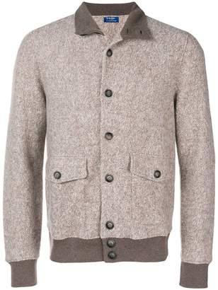 Barba melange buttoned jacket