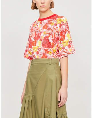 Benetton Tropical floral-print cotton-jersey T-shirt