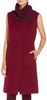 St. John Doubleface Angora Cashmere Reversible Vest