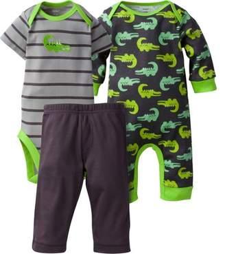 Gerber Newborn Baby Boy Coverall, Onesies Bodysuit & Pant, 3pc Set