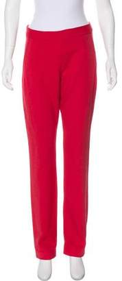 Donna Karan Mid-Rise Straight-Leg Pants
