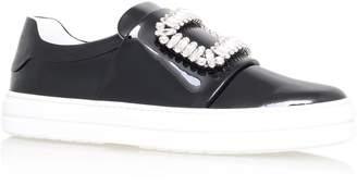 Roger Vivier Sneaky Viv Embellished Patent Sneakers
