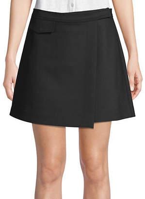 Theory Canton Bi-Stretch Wrap Mini Skirt