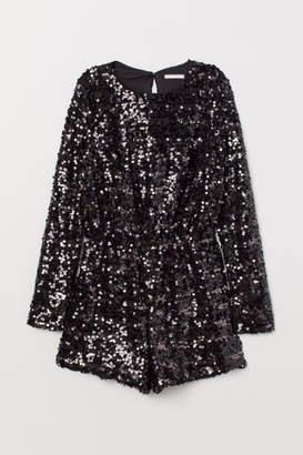 H&M Sequined Jumpsuit - Gray