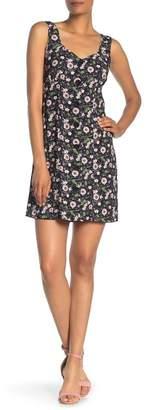 Anna Sui Floating Flowers Sleeveless Crepe Dress
