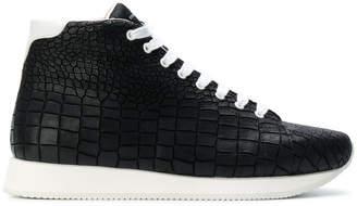 Kris Van Assche crocodile effect hi-top sneakers