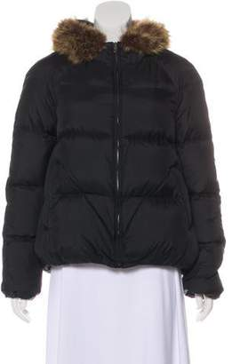 Theory Fur-Trimmed Down Jacket