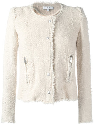 Iro collarless cropped jacket $458.87 thestylecure.com